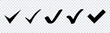 Vector check mark icons set