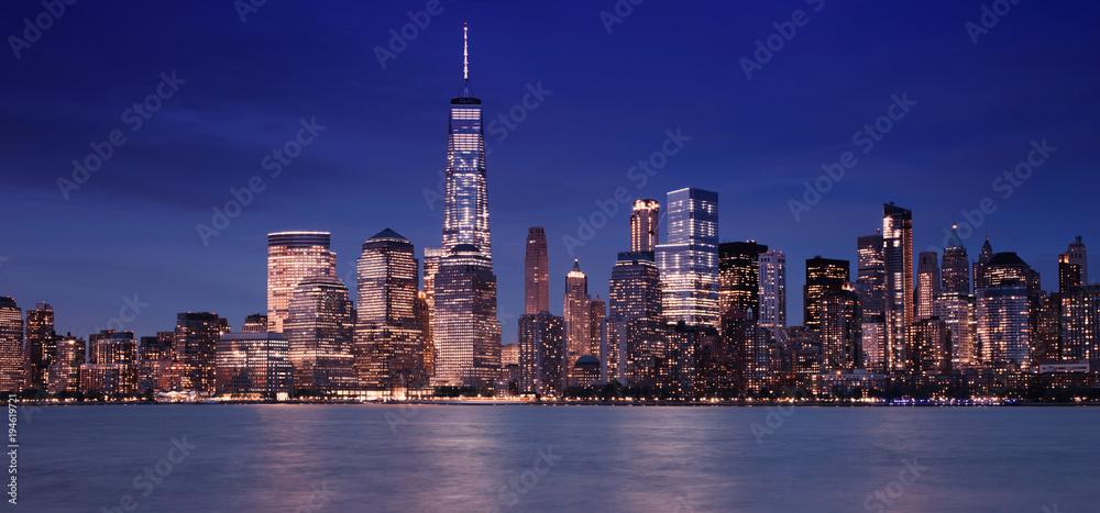 Fototapety, obrazy: Night Skyline of New York City
