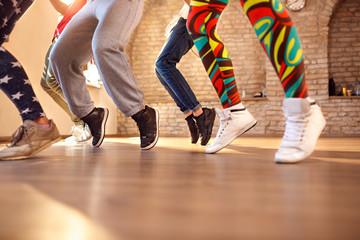 Close up of dancer's legs