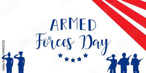 Fotografía  Vector illustration of Day of armed forces in the USA