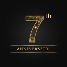 Anniversary,aniversary, Seven Years Anniversary Celebration Logotype. 7th Anniversary Logo. 7 Number. 7 Years.