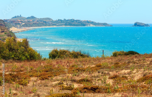 Spoed Foto op Canvas Mediterraans Europa Sea bay in Torre di Gaffe, Agrigento, Sicily, Italy