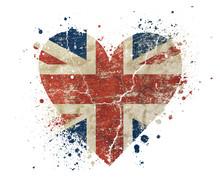 Heart Shaped Grunge Vintage UK...