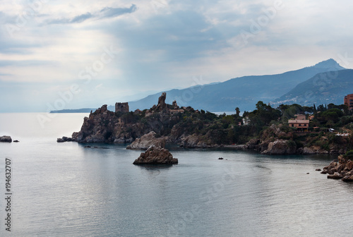 Spoed Foto op Canvas Mediterraans Europa Cefalu coast view Sicily, Italy