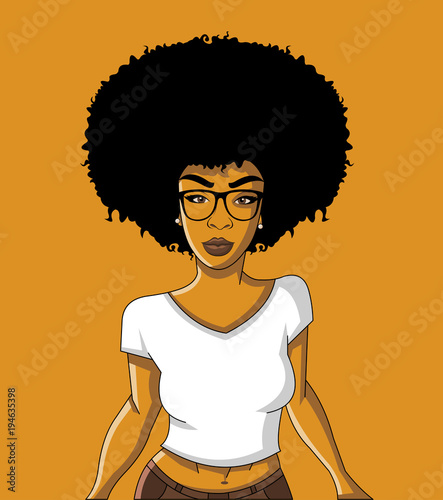 Group of cartoon black woman. African girl. - Buy this ...