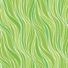 Seamless Spring Vector Pattern With Lines. Abstract Colorful Wavy Nature Eco Background.