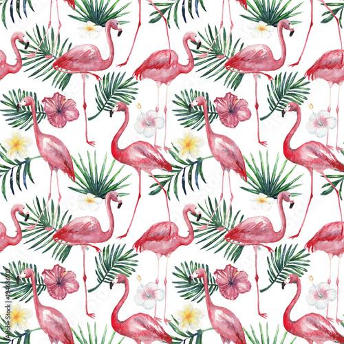 akwarela-tropikalny-wzor-z-czerwonak
