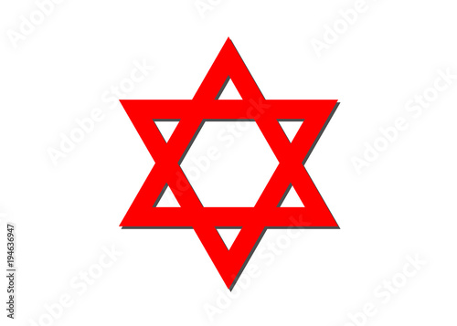 Vector Symbol Of Judaism Religion Red Star Of David Buy This