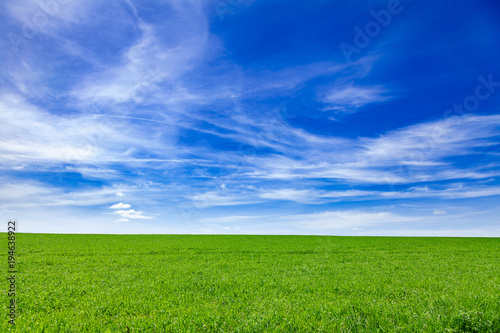 Photo Stands Dark blue Idyllic summer landscape Southern England UK