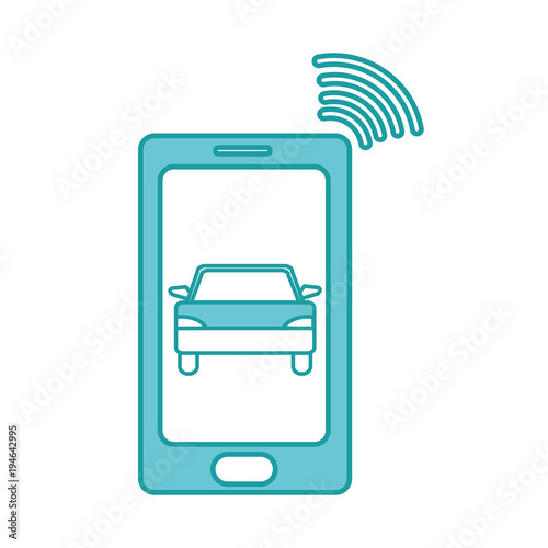 duo color smartphone with car transport and used wifi Poster