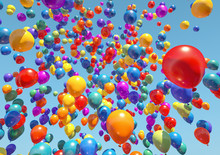 Colorful Balloons Flying To Th...