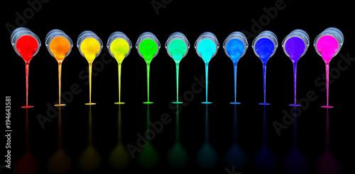 Fotografía  3D rendering of an color concept