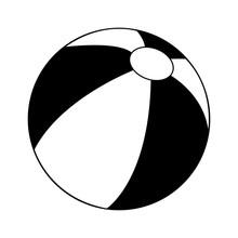 Beach Ball Icon Image Vector I...