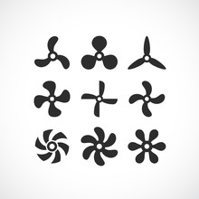 Vector Propeller Icon Set