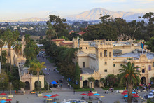 View From California Tower, Museum Of Man, Balboa Park, San Diego, California, USA