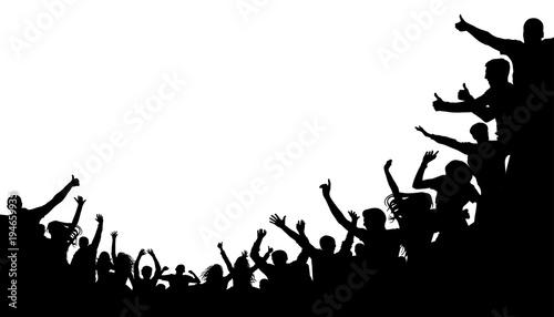 Crowd people, fan cheering Canvas Print