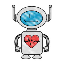 Technological Robot With Heart...