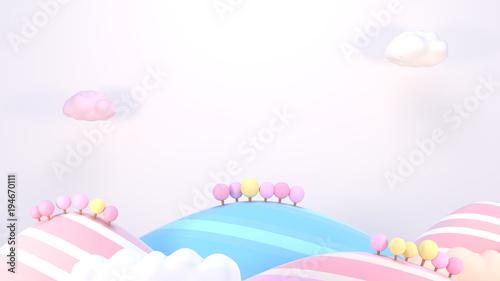 3d-renderingu-obrazek-slodkie-kreskowek-gory