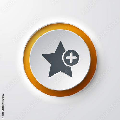 icône bouton favori étoile Canvas Print