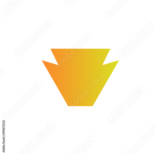 Vászonkép keyston logo design, abstract graphic icon, logo design template, symbol for com