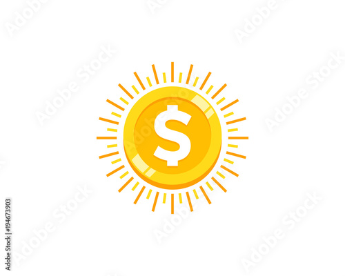 Fototapeta Sun Coin Icon Logo Design Element obraz