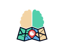 Map Brain Icon Logo Design Ele...