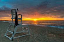 Sunrise On The Beach With Life...