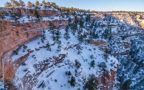 Zdjęcie XXL Grand Canyon Z śniegu Podczas Zimowych