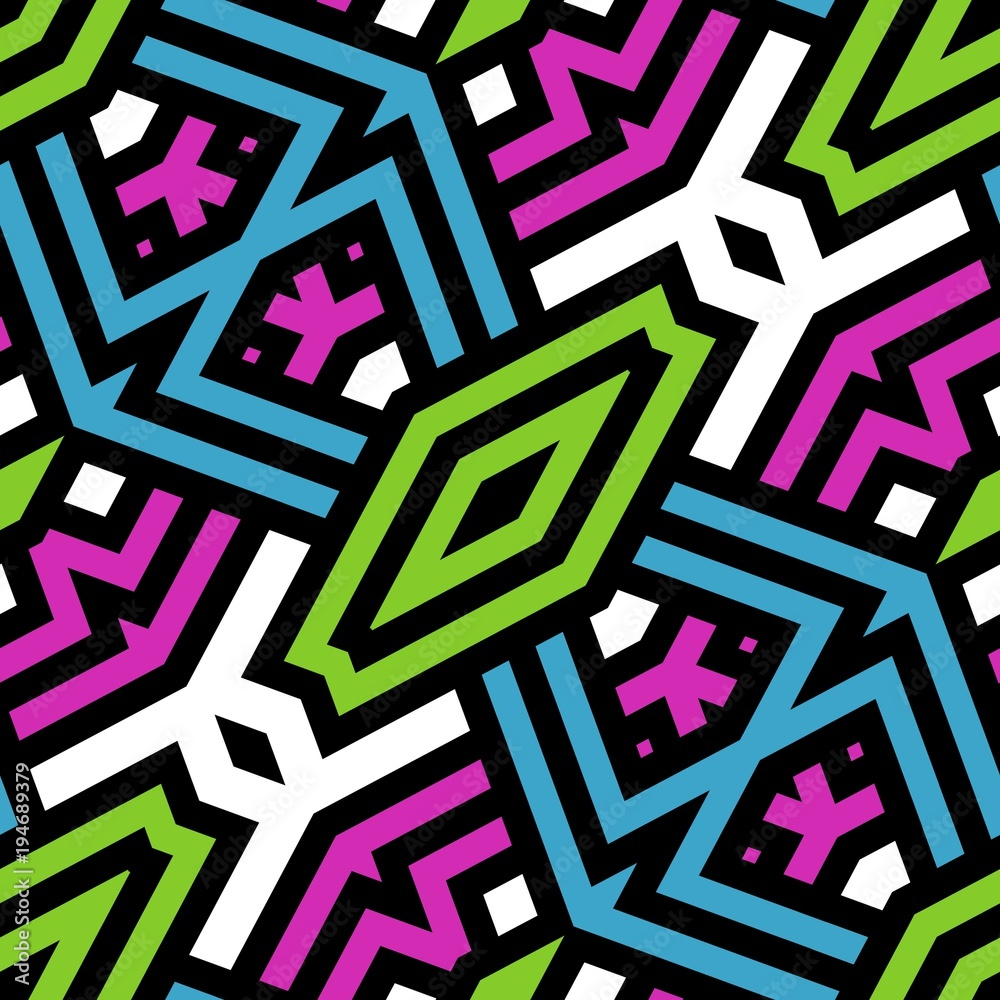 Abstrakcjonistyczna bezszwowa tekstura lub tło z czarnymi liniami