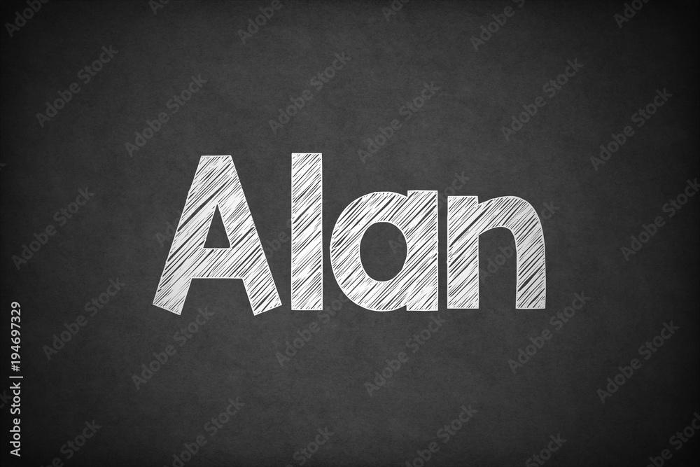 Alan on Textured Blackboard. Poster