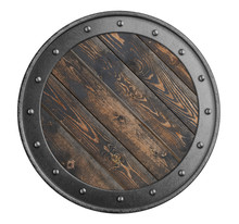 Old Wooden Shield Of Vikings I...