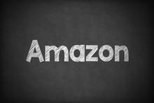Amazon On Textured Blackboard.