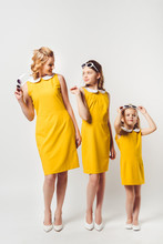 Stylish Mother And Daughters I...