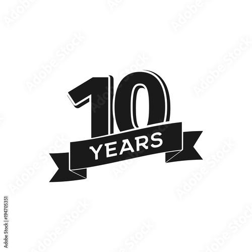 Fotografía  Vector 10 years anniversary logotype