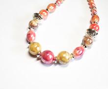 Modeschmuck: Bunte Perlenkette...