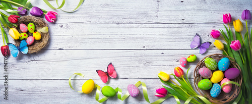 Easter background Wallpaper Mural