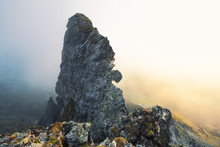 Sunlight Shining On Alpine Landscape