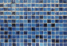 Old Blue Tile Wall