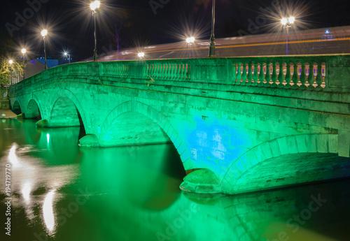 Bedford road Bridge at night Wallpaper Mural
