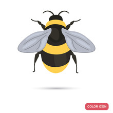 Bumblebee Color Flat Icon