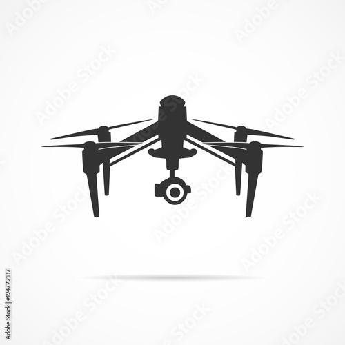 Fototapeta Vector image of a drone icon. obraz