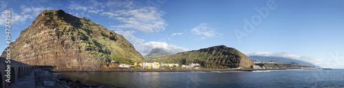 Spoed Foto op Canvas Canarische Eilanden Puerto De Tazacorte Panorama, La Palma