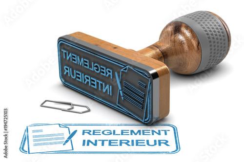 Fotografiet  Règement Intérieur, règles internes