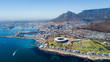 canvas print picture - Cape Town from a bird's eye view