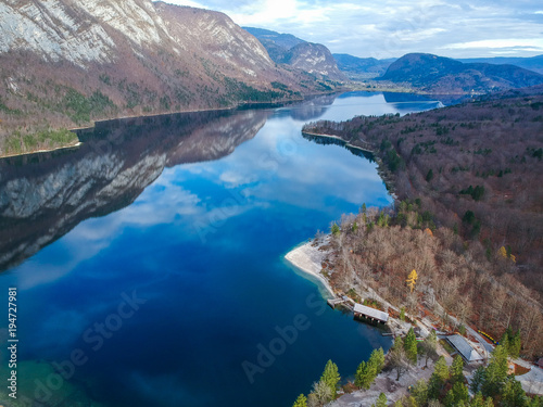 Aluminium Prints Blue Bohinj lake in Triglav National Park