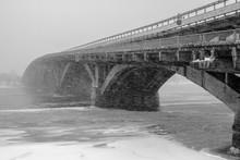 Metro Bridge . Winter Urban La...