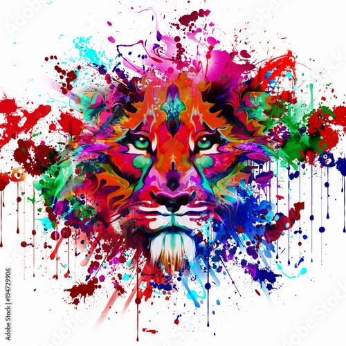 Цвет руки тигра, абстрактные иллюстрации
