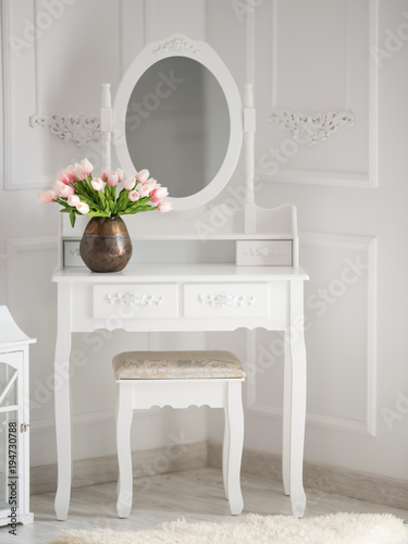 make-up table with mirror Wallpaper Mural