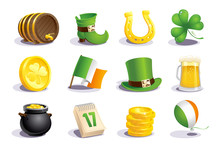 St. Patrick's Day Icons And Symbols Set