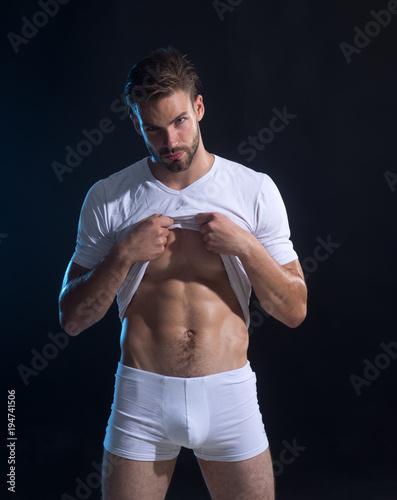 Portrait Of An Attractive Athlete Sportsman Stock Photo